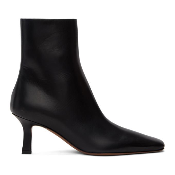 NEOUS Black Leather Menea Boots