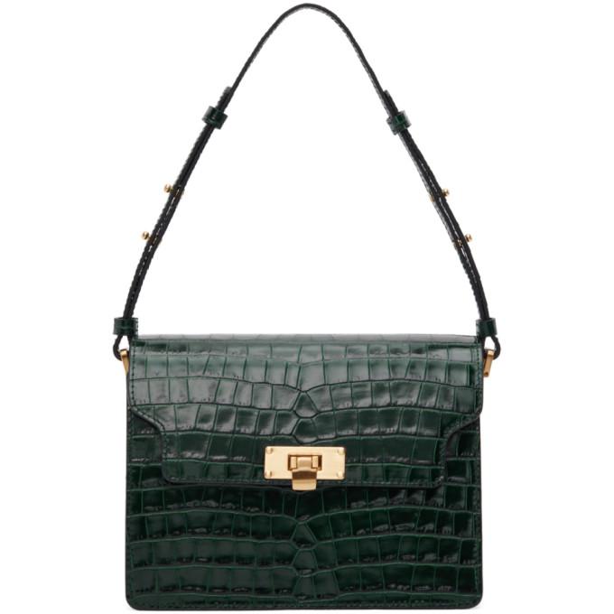 Marge Sherwood Green Croc Vintage Brick Bag