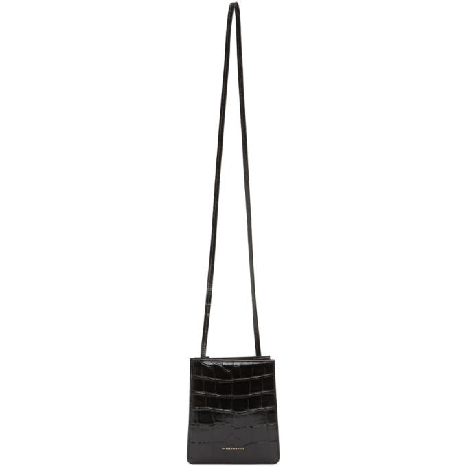 Marge Sherwood Black Croc Small Acco Bag