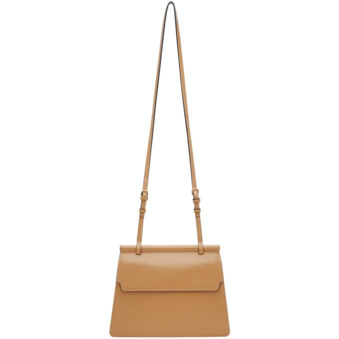 Marge Sherwood Tan Medium Acco Shoulder Bag In Camel