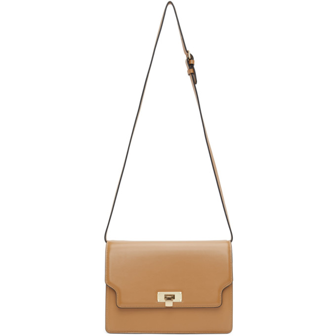 Marge Sherwood Tan More Brick Shoulder Bag In Camel