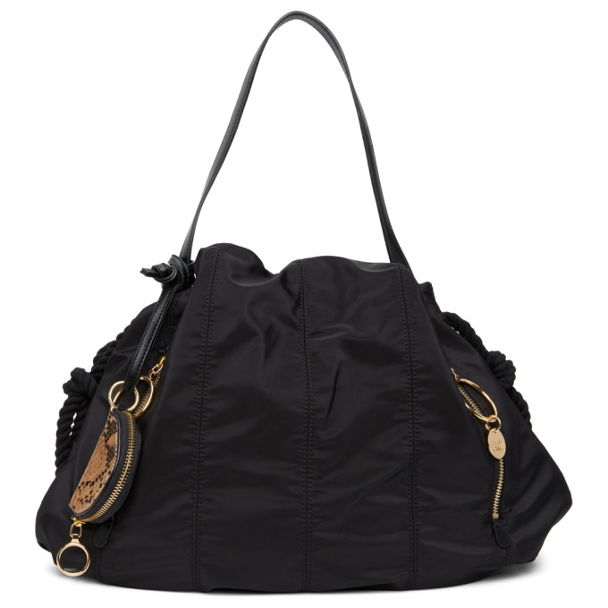 SEE BY CHLOÉ SEE BY CHLOE BLACK SMALL FLO TOTE