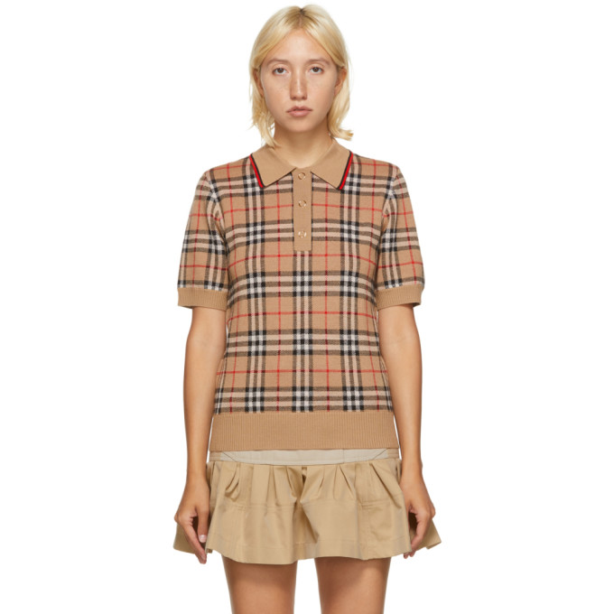 Burberry Beige Vintage Check Chatterton Polo
