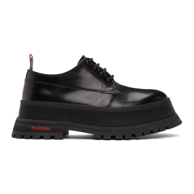 Burberry Chunky heels BURBERRY BLACK JEFFERSON CHUNKY DERBYS
