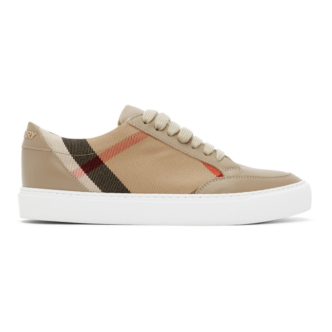 Burberry Salmond Leather Sneakers In