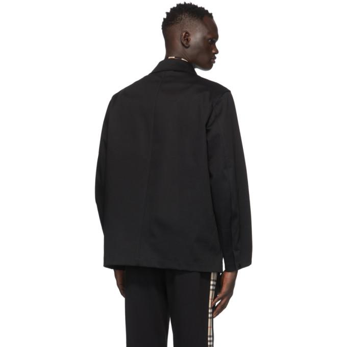 BURBERRY Cottons BURBERRY BLACK CALVERTON JACKET