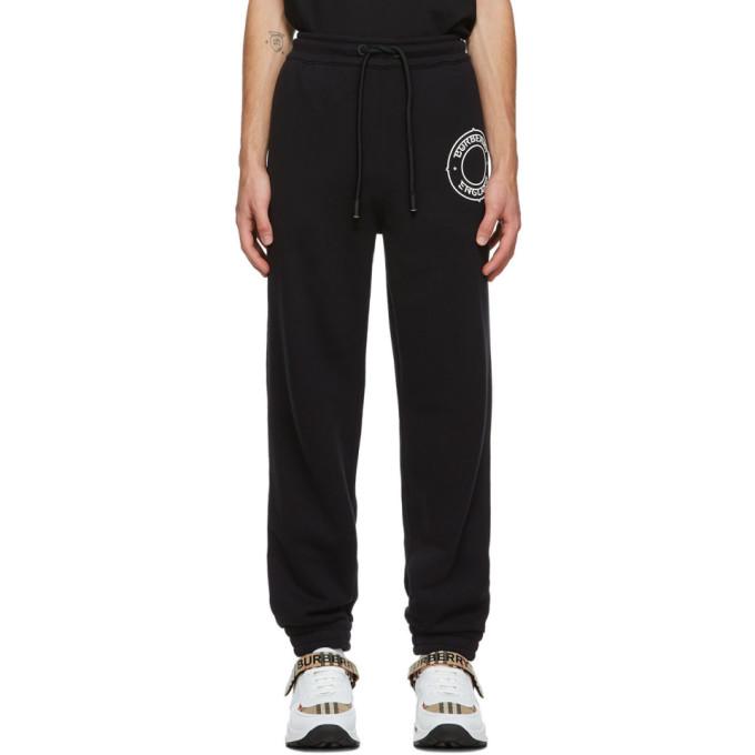 Burberry 黑色徽标运动裤