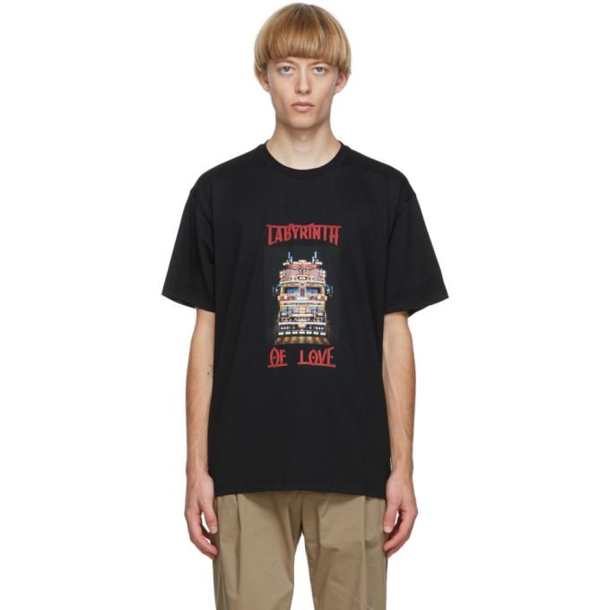 """Burberry 黑色""""Labyrinth Of Love"""" T 恤"""