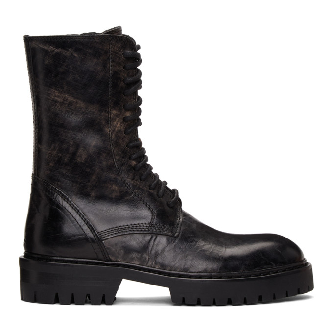 Ann Demeulemeester SSENSE 独家发售黑色 Tuscon 中筒靴