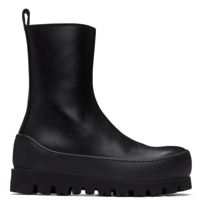 Ann Demeulemeester Black Tuscon Platform Boots