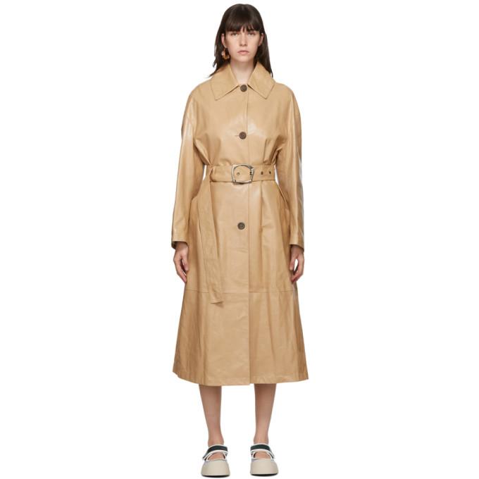 Marni Marni Beige Lambskin Coat