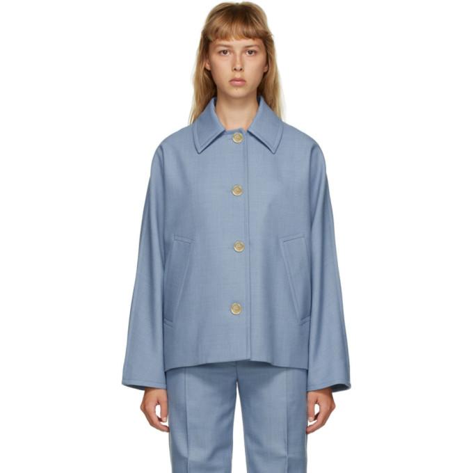 Marni Marni Blue Wool Button-Up Jacket