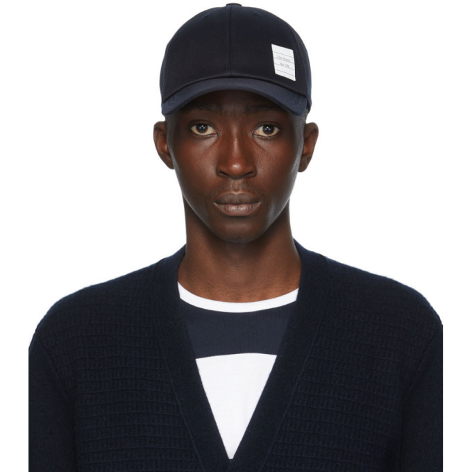 Thom Browne Navy Six Panel Cap  - buy with discount