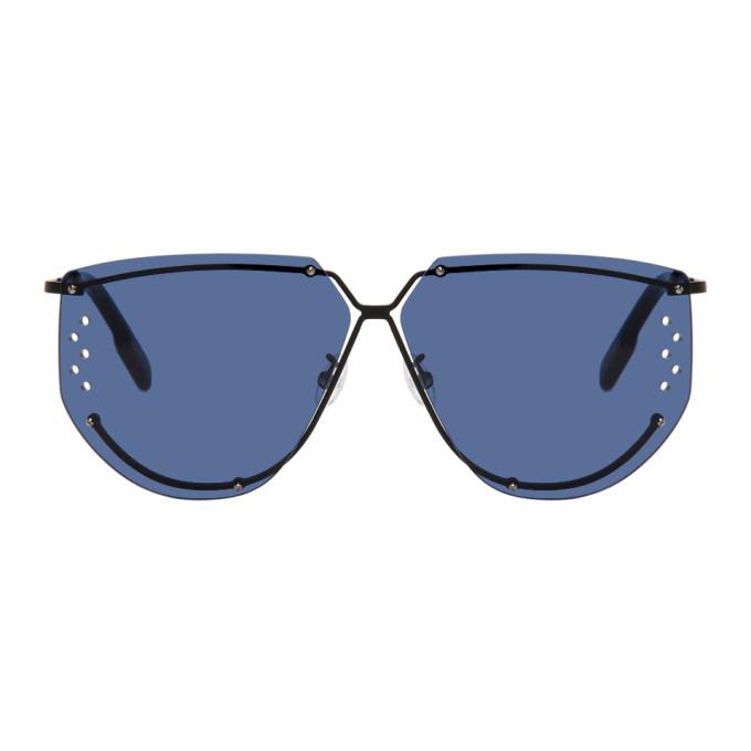 Kenzo Black Square Sunglasses In Matte Palla