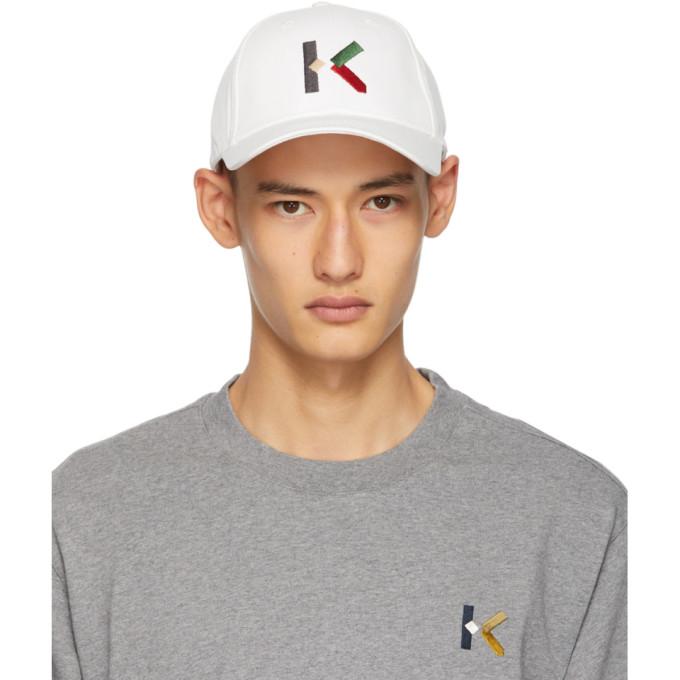 Kenzo Men's White Cotton Hat In 01 White