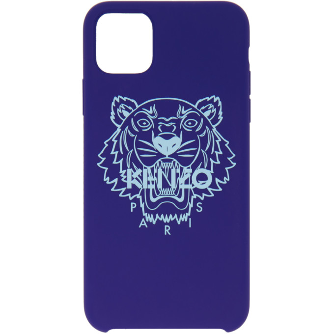 Kenzo Blue Tiger Iphone 11 Pro Max Case In 76 - Navy B