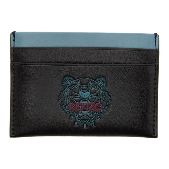 Kenzo Black Ekusson Card Holder In 99 Black