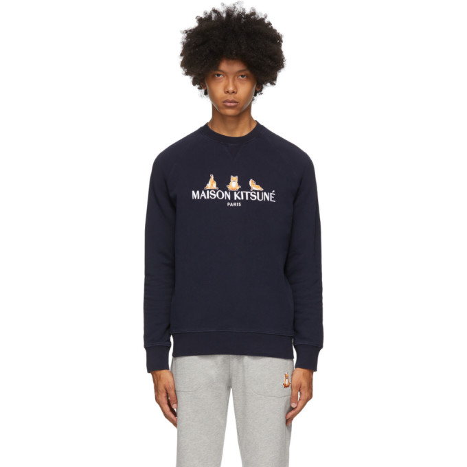 SSENSE Exclusive Navy 3 Yoga Foxes Sweatshirt