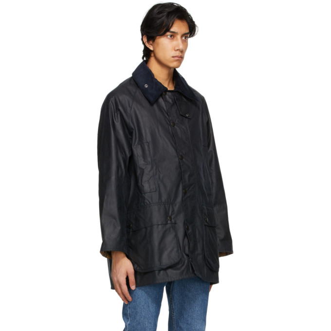 Barbour Navy Beaufort Wax Jacket
