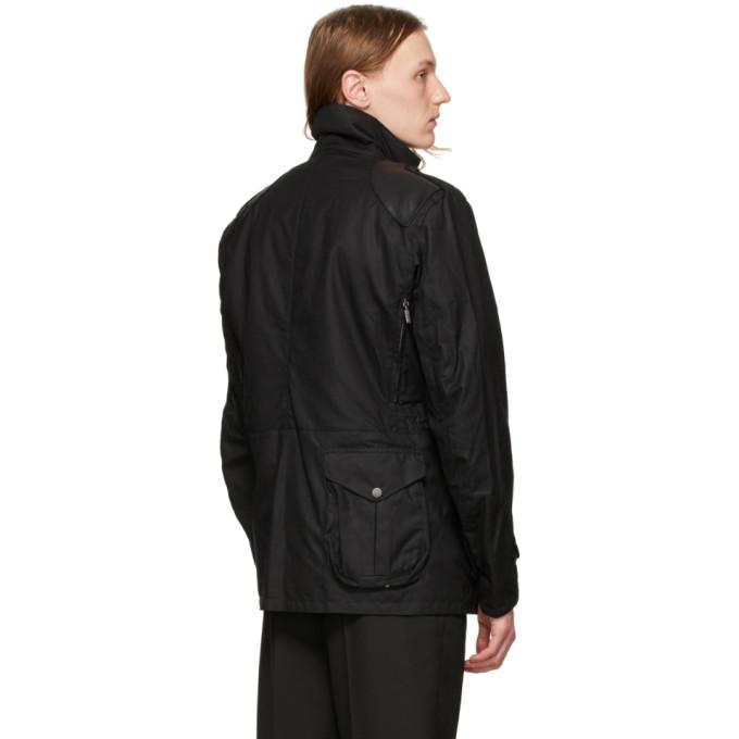 Barbour Black Supa-corbridge Wax Jacket