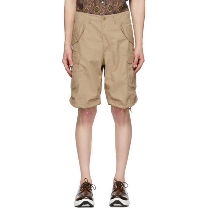 Beams Plus Short en coton anti-dechirures beige 80/3