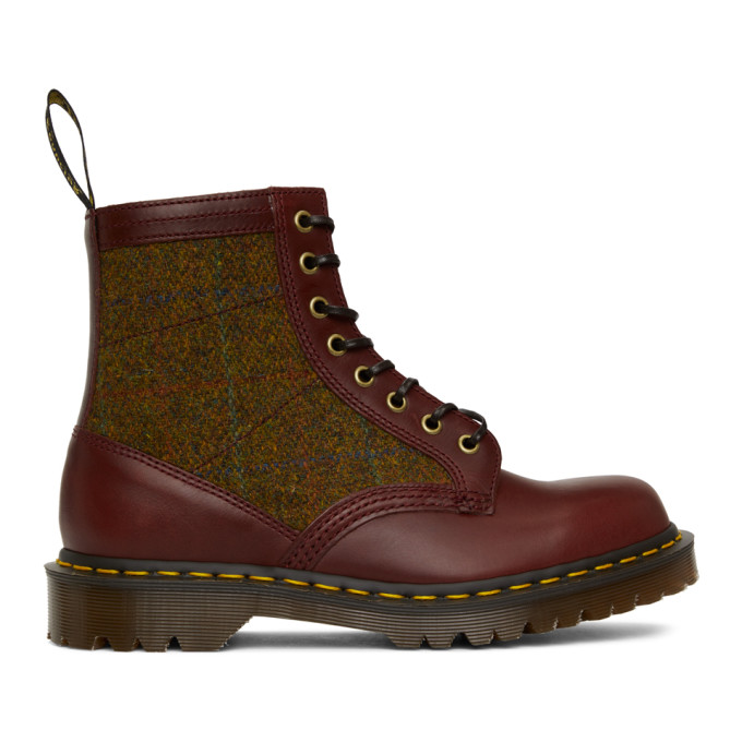 Dr. Martens バーガンディ Made in England 1460 ブーツ