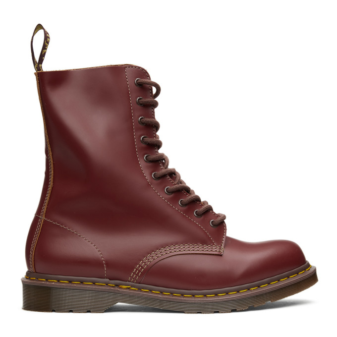 Dr. Martens レッド Made In England ビンテージ 1490 ブーツ