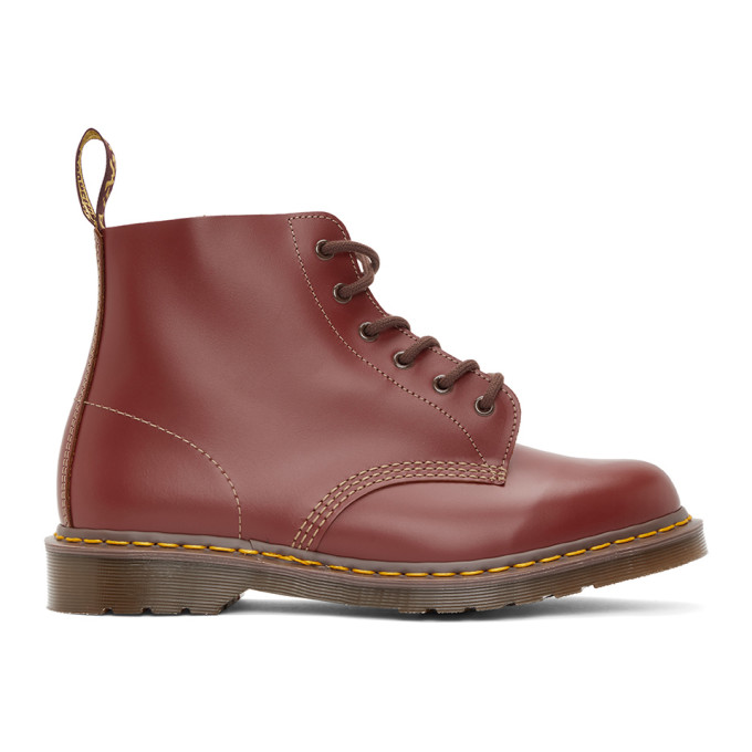 Dr. Martens バーガンディ Made In England Vintage 101 ブーツ
