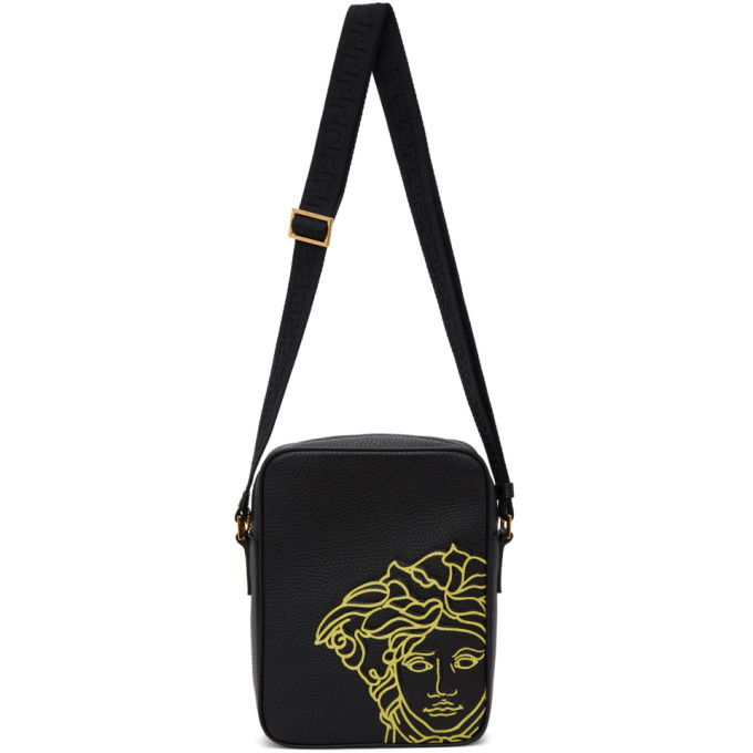Versace VERSACE BLACK POP MEDUSA CROSSBODY BAG