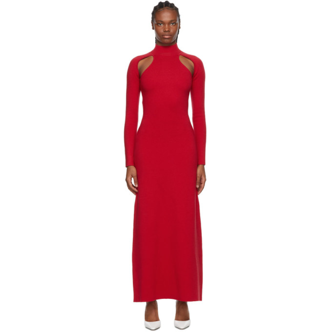 Victor Glemaud VICTOR GLEMAUD RED CUT-OUT DRESS