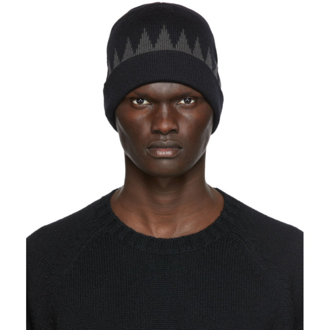 Undercover UNDERCOVER BLACK AND GREY WOOL BEANIE