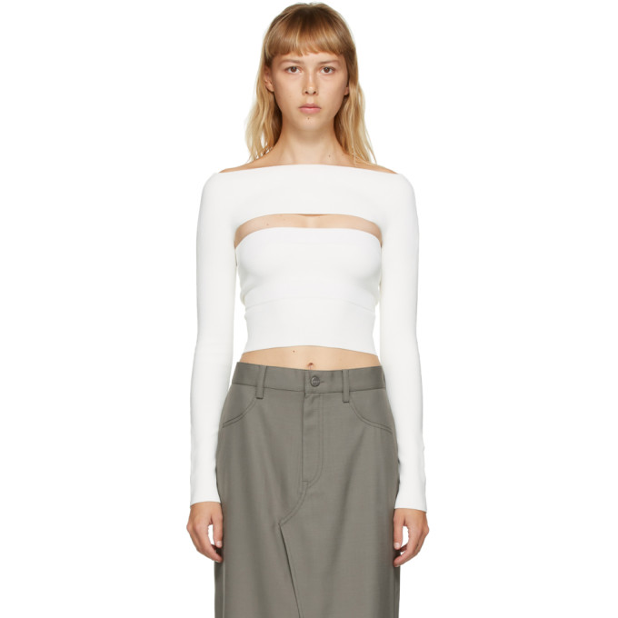 Dion Lee Haut blanc Two-Piece Tube