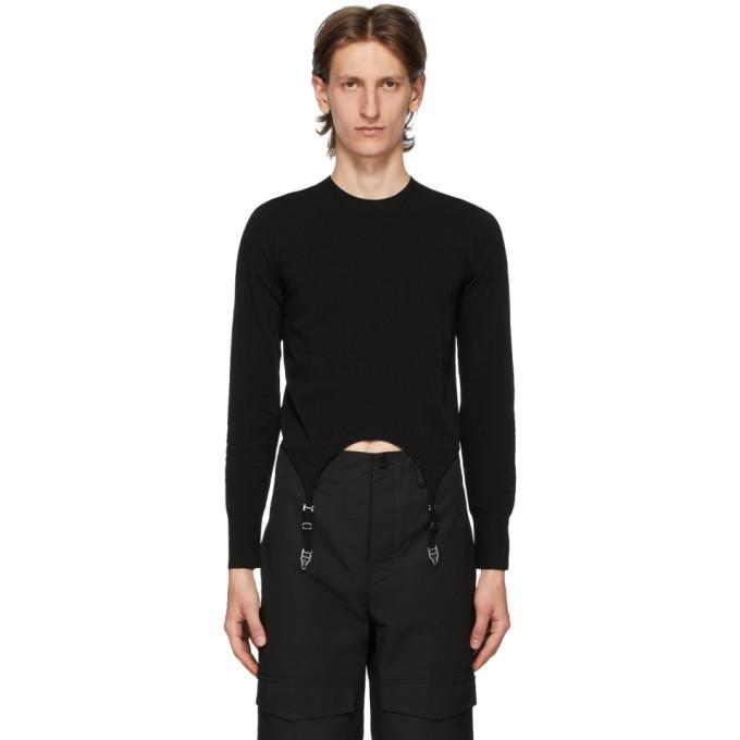 Dion Lee T-shirt a manches longues et jarretelles noir