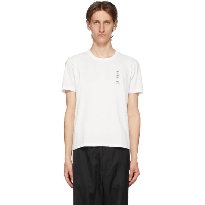 Dion Lee T-shirt a logo brode blanc