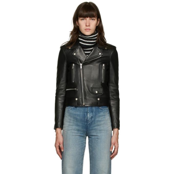 Saint Laurent Saint Laurent Black Leather Classic Motorcycle Jacket
