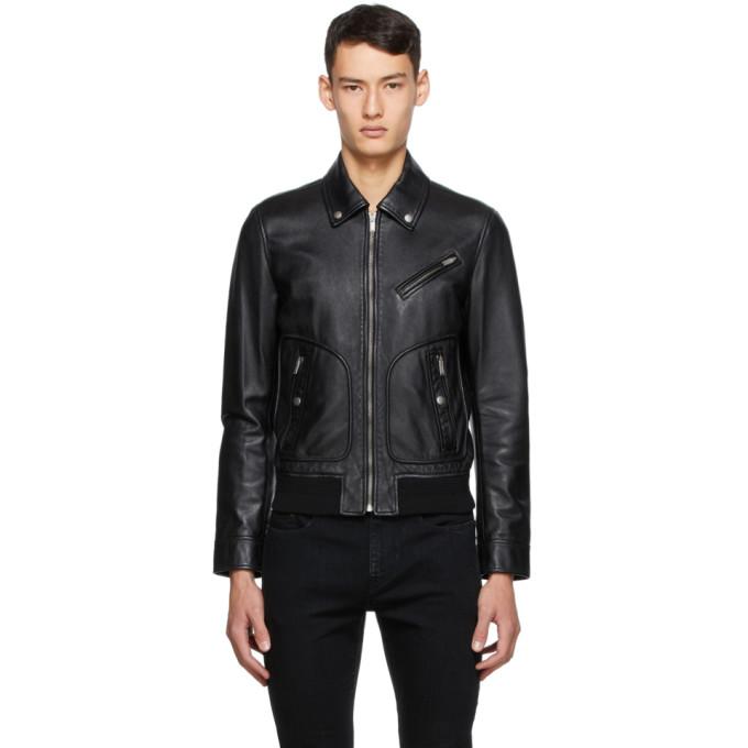 Saint Laurent Saint Laurent Black Leather Jacket