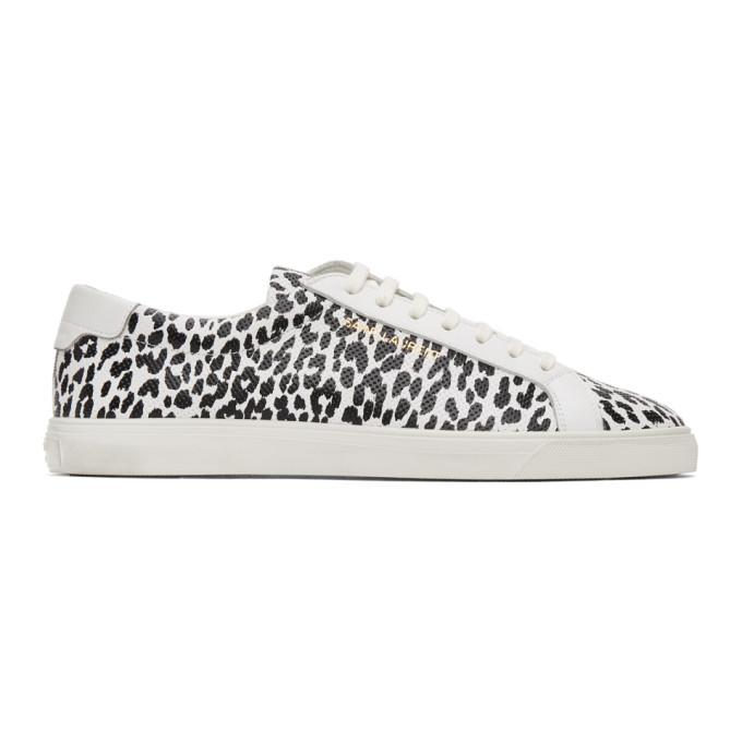 Saint Laurent 白色 and 黑色 Babycat Andy 运动鞋