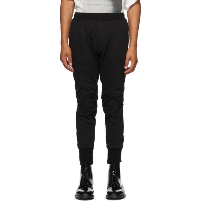 Julius Pantalon de survetement noir Open Knee