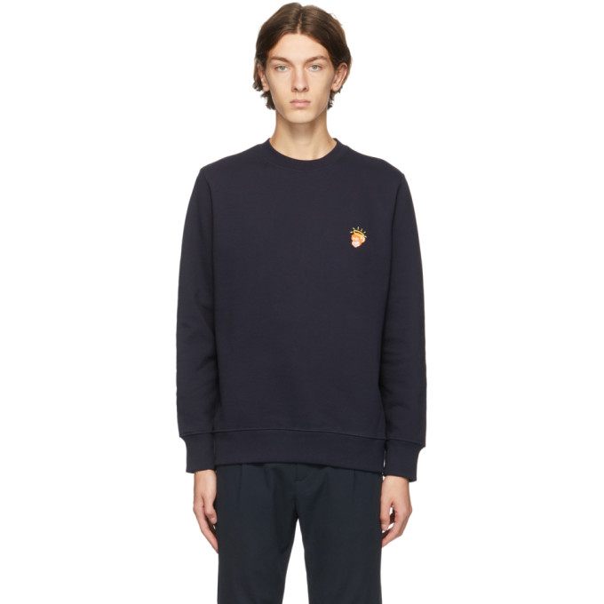 PS BY PAUL SMITH PS BY PAUL SMITH NAVY AND ORANGE ANGEL MONKEY SWEATSHIRT