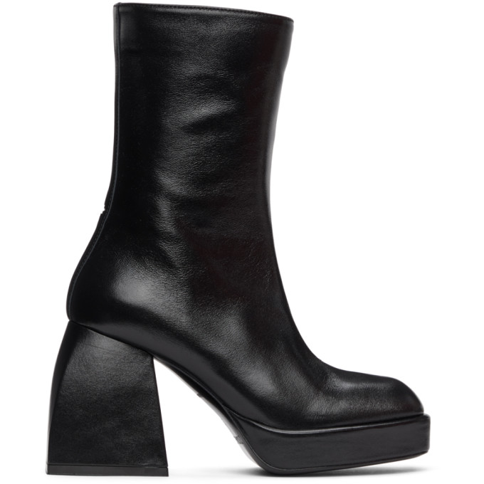 Nodaleto Leathers NODALETO BLACK BULLA CORTA BOOTS