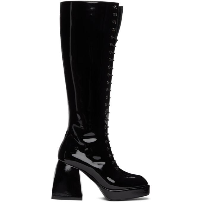 Nodaleto Mid heels NODALETO BLACK BULLA WARD TALL BOOTS