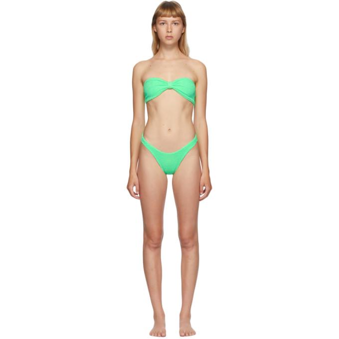 Hunza G Bikini vert Jean