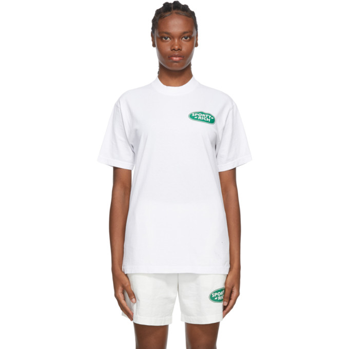 SPORTY AND RICH SPORTY AND RICH WHITE LAND ROVER EDITION LOGO T-SHIRT