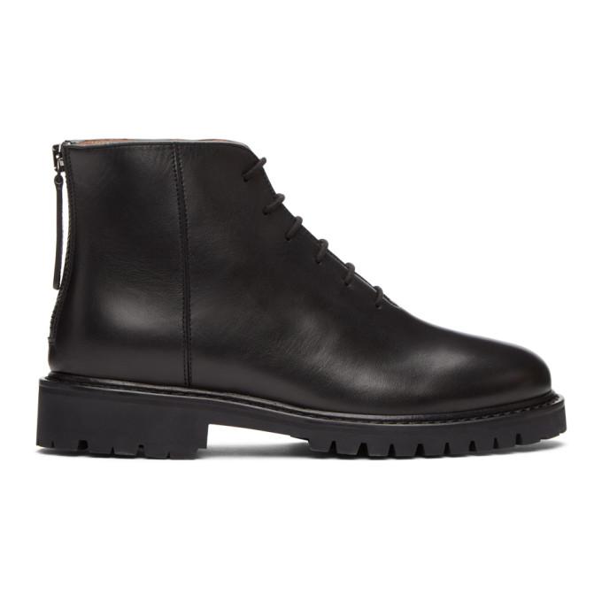 Legres Black Short Combat Boots