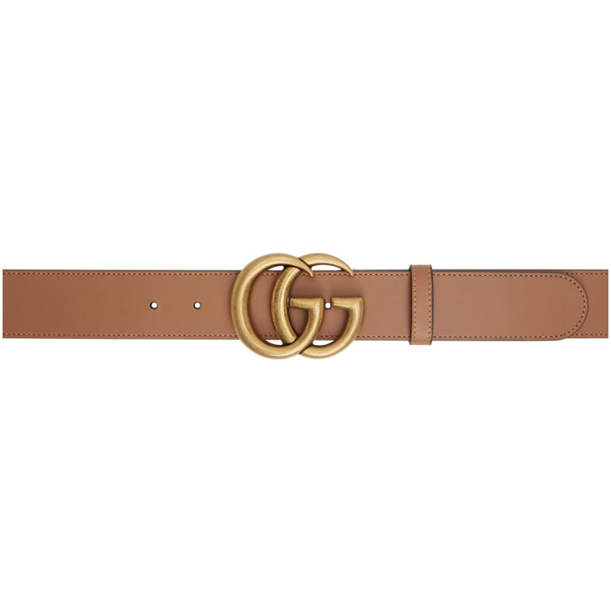Gucci 黄褐色 GG Marmont 腰带