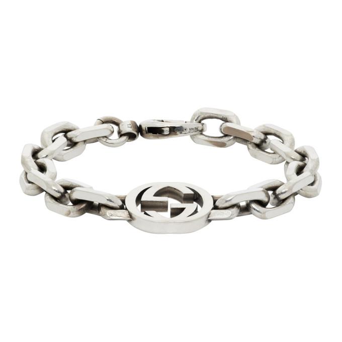 Gucci Silver Interlocking G Bracelet In 0728 Silver