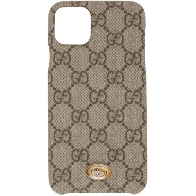 Gucci GUCCI BEIGE OPHIDIA GG IPHONE 11 MAX CASE