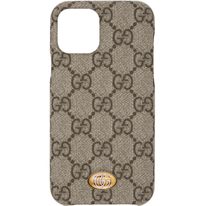 Beige Ophidia GG iPhone 11 Pro Case