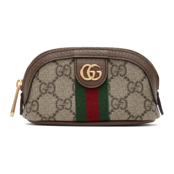 Gucci 驼色 GG Ophidia 零钱包