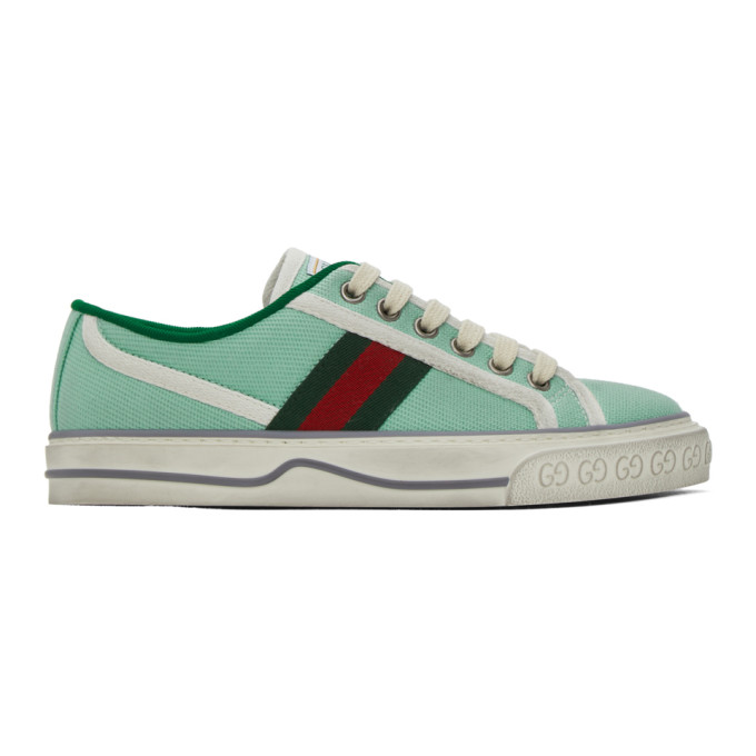 Gucci Canvases GUCCI GREEN GUCCI TENNIS 1977 SNEAKERS